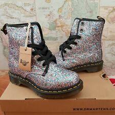 Dr Martens 1460 Farrah Glitter Multi Blue Chuncky Ankle Boots Size UK 4 EU 37