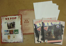 Zz-Top The Best Of: 10 Legendary Texas Tales 1977 Promo Sales Kit Posters & More