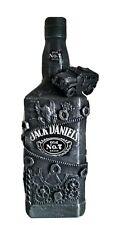Jack Daniel's 1L Karaffe Dekoflasche SUV Auto Steampunk Zahnräder Upcycling