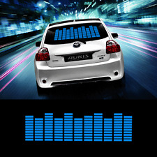 Zone Tech Sound Music Beat Activated Car Stickers Equalizer Glow LED Light Blue