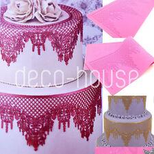 Chandelier Shaped Silicone Lace Fondant Cake Mould Mat Wedding Sugarcraft Baking