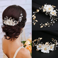New Wedding Bridal Pearl Tiara Handmade Princess Crown Bridal Hair Accessories