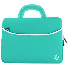 "7-8"" Tablet Universal  Sleeve Carry Case Bag Handle Cover (Teal) Blemish"
