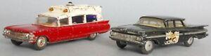Corgi Toys Cadillac Ambulance no.437 & Chevrolet Impala State Patrol Car no.223