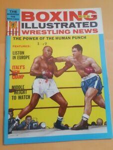 Boxing Illustrated + Wrestling Magazine. Dec. 1963. Marciano. Basilio Poster