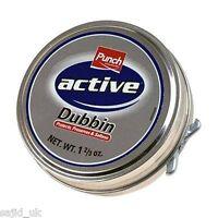 Punch Active Dubbin Neutral 50ml Tin Waterproofs Leather Shoe & Boot Wax