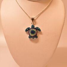 Mosaic Jewelry Sea Turtle 8592-A Silver Pendant Multi Color New