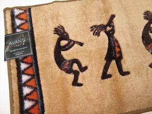 Kokopelli Bath Rug Gold 20 X 30 Southwestern Decor Tribal Dance Anti No Slip NWT