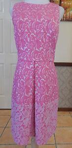 Cynthia Steffe Aniston Hyper Pink Dress - Size 10-12 - RRP $278USD - BNWT