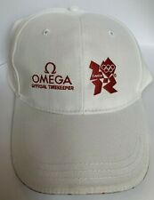 OMEGA Official Timekeeper London Olympic 2012 Cap -  - White with Red logos