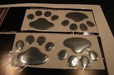 (2) 3D ANIMAL PAWS CAR STICKER EMBLEM  LOGO DOG OR BEAR  USA SELLER ANIMAL LOVE