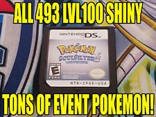 POKEMON SOULSILVER AUTHENTIC All 493 SHINY GAME UNLOCKED EVENT POKEMON!