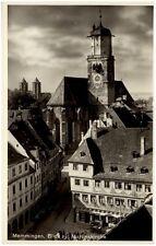 MEMMINGEN Bayern Allgäu ~1940 Straßen Einblick a.d. Martinskirche Kirche Church