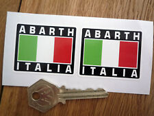 ABARTH ITALIA TRICOLORE STILE adesivi 50mm COPPIA FIAT 500 850 Panda Seicento Punto