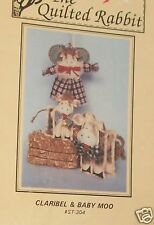 Primitive Country Cow doll pattern Kitchen decor homespun greeter ornament