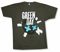 "GREEN DAY ""HEART"" CHARCOAL GREY T-SHIRT NEW NWT OFFICIAL ADULT BILLIE JOE"