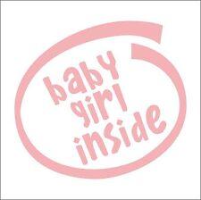 Baby Girl Inside decal sticker vinyl art car home children's kids newborn room