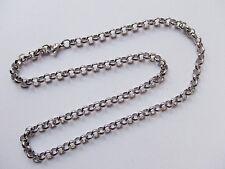 50cm base per collana  catena  6mm in acciaio inox colore argento scuro
