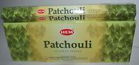 Hem Patchouli Incense Bulk 6 x 20 Stick Box 120 Sticks (Patchouly) Wicca Pagan!