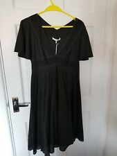 Women's Mariella Rosati Black Midi Dress UK Size 12. Brand New With Tags