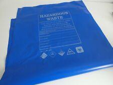 200 x extra strong Blue Hazardous Waste rubble sacks Bags, 60x114cm
