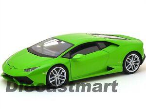 WELLY 18049W LAMBORGHINI HURACAN LP610-4 1:18 DIECAST MODEL CAR GREEN