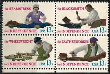 "US 1977 Very Fine Block of 4 MNH Stamps Scott # 1720a "" for Independence """