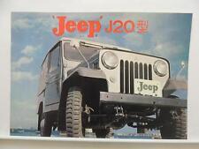Japanese Jeep J20 Dealer Brochure Mitsubishi Literature L9076