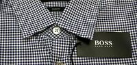 NWT $145 Hugo Boss Slim Fit Short Sleeve Blue Shirt Mens S M L XL Ronn NEW