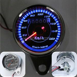 LED Backlit Speedometer For Yamaha Kawasaki Honda Suzuki Naked Bike Cafe Racer