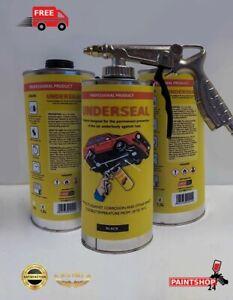Underseal Black seal Big Can 3 x 1.5L + gun free Underbody,waxoil,Tetra schutz