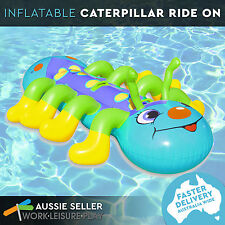 Airtime Inflatable Inflatable Catapillar Ride On Pool Water Toy 174x110cm