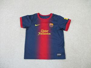 Nike Barcelona Soccer Jersey Youth Medium Red Blue Spain Futbol Boy Kids B20