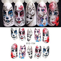 Nail Art Water Decals Transfer Stickers Halloween Nail Art DIY Stickers Decals