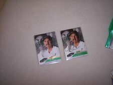 NASCAR-  TWO MIKE BLISS- PRESS PASS-WINSTON CUP PREVIEW- ONE  AUTOGRAPHED CARD -