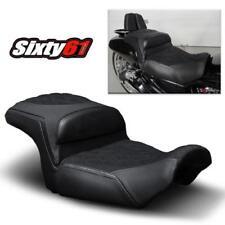 Cubiertas de asientos negros para motos Harley Davidson