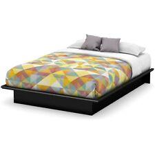 full size platform bed frame modern bedroom furniture black wood foundation new - Wood Platform Bed Frame Full