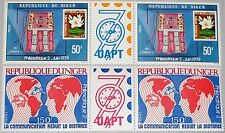 Niger 1979 667-68 479-80 Gutter philexafrique II Stamp on STAMP WORLD MAP MNH