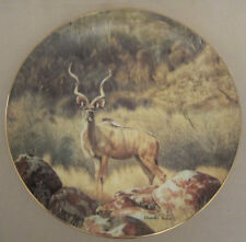 The Greater Kudu Collector Plate Charles Frace Africa Safari Antelope Wildlife
