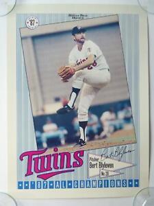 Bert Blyleven Minnesota Twins League Champions Baseball Poster 1987 15x20