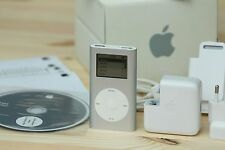 APPLE IPOD MINI 1ST GENERATION SILVER 4GB + ORIGINAL BOX + ACCESSORIES COLLECTOR