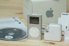 APPLE IPOD MINI 1ST GENERATION SILVER 4GB + ORIGINAL BOX + ACCESSORIES COLLECTOR