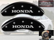 "2009-2019 ""Honda"" Fit Front Black Engraved MGP Brake Disc Caliper Covers 2pc Set"
