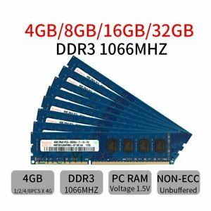 For Hynix 32GB 16GB 8GB 4GB PC3-8500 DDR3 1066Mhz 240pin Desktop Memory Lot UH