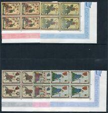 LIECHTENSTEIN-1961 Minnesingers (1st Issue) Set of 5 corner blocks of 4 UNM/MINT