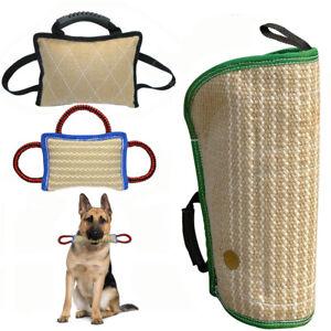 Durable Jute Dog Arm Sleeves Bite Tug Pillow Schutzhund K9 Training for Pitbull