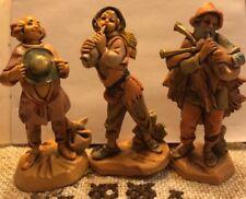 3 Fontanini Simonetti Depose Italy Nativity Village Haran Daniel Josiah~Retired