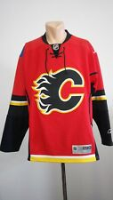 Calgary Flames NHL Jersey CCM Authentic Reebok Pro Player Hockey Size M Mens
