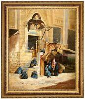 ÖLBILD Marktplatz orientalisch ÖLGEMÄLDE HANDGEMALT Gemälde F:50x60cm