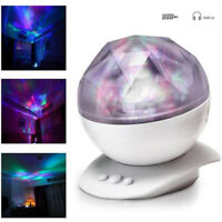 Ocean Wave Music LED Night Light Projector Remote Lamp Baby Sleep Gift Relaxin I